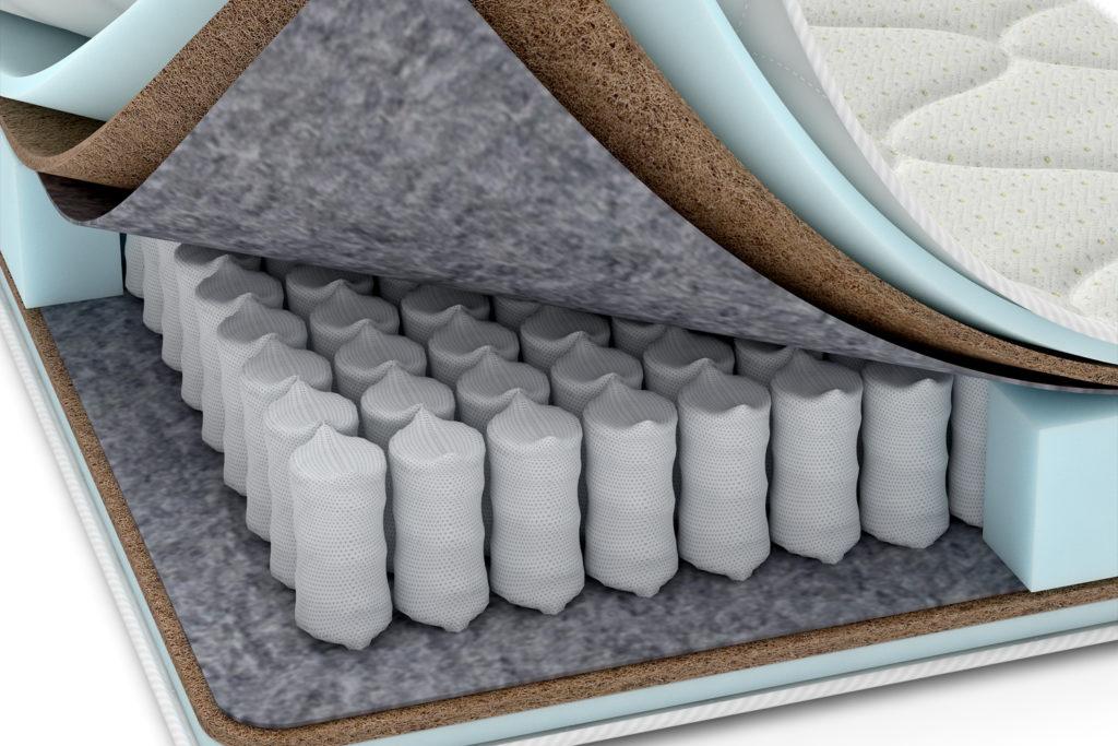 Блок недорогого ортопедического матраса